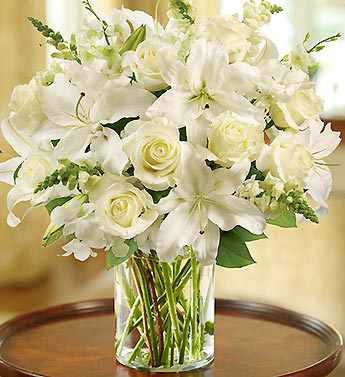 White Lilies, Roses, Snaps