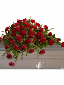 Sympathy - Carnation Casket Spray Starting @ $149.95
